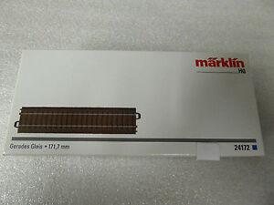 Maerklin-H0-24172-C-Gleis-gerade-171-7-mm-Neuware