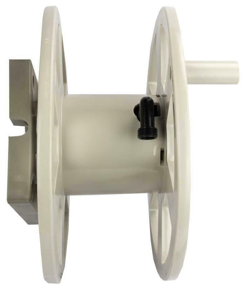 Wall Mounted Hose Reel 100 Ft. Taupe Hose Storage Suncast Sidewinder Resin New