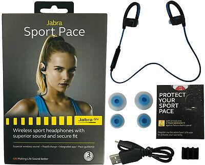 Jabra Sport Pace Bluetooth Wireless Sport Hd Music Headphones Rapid Charge Blue Ebay