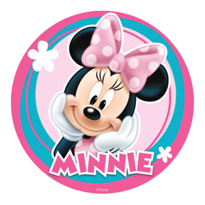 Fine Minnie Mouse Edible Birthday Party Cake Decoration Topper Round Funny Birthday Cards Online Necthendildamsfinfo
