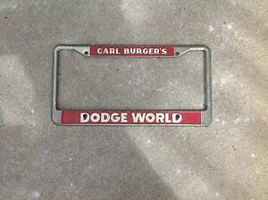 Carl Burger Dodge San Diego >> Details About Carl Burgers Dodge World San Diego California Dealer License Plate Frame