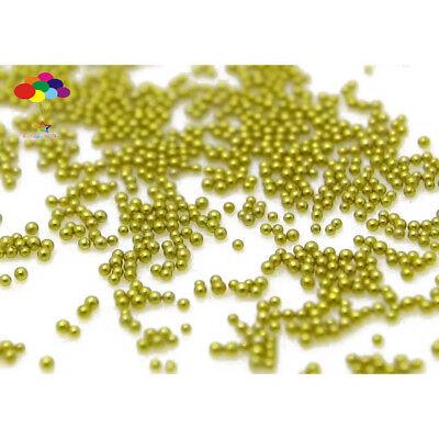 100000 pcs 12g Glass Dark gold Micro Beads small No Hole 0.6-0.8mm Nail Art