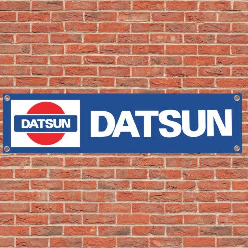 Datsun Motorsport Sport Car Track Racing Sign Garage Workshop Banner Display