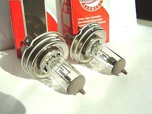 2x NEU GERMANY OFF ROAD Lampen H4 P43t 100/90 Watt Birne H4 Lampe 12V Halogen