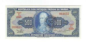50-centavos-500-cruzeiros-UNC-Bresil-1967-c119-p-186-Brazil-billet