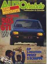 AUTO HEBDO n°378 du 21 Juillet 1983 GP GRANDE BRETAGNE 505 GTI