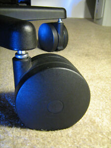 Details about Miracle Caster Set of 5 Big Chair Wheels Roll on Carpet 4 inch Casters Large