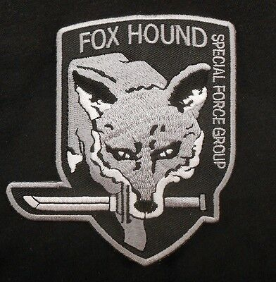 METAL GEAR SOLID FOXHOUND FOX SPECIAL FORCE GROUP SWAT BLACK OPS IRON PATCH 4""