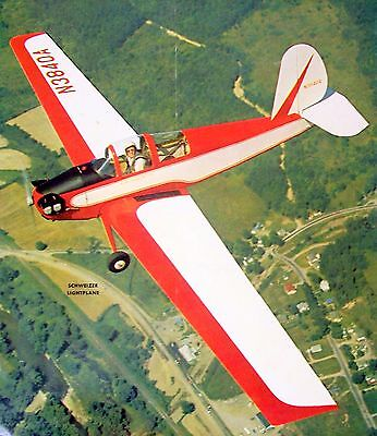 "Toys & Hobbies Berkeley Schweitzer 1-30 Rc Sailplane Plan Enlarged To A 60"" 1/2a Model Airplane"