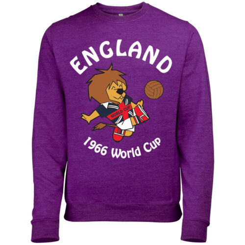WORLD CUP WILLY MENS ENGLAND FOOTBALL MASCOT 1966 RETRO PRINT SWEATSHIRT JUMPER