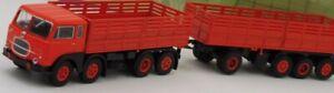BREKINA-58402-Fiat-690-Millepiedi-autocarro-con-rimorchio-arancio-nero-HO-1-87