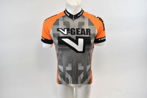New Verge V-Gear Sport Cut Short Sleeve Cycling Half Zip Jersey Men/'s Large