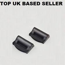 CHRYSLER BLACK Seat Belts Safety Adjustable Stopper Buckle Plastic Clips