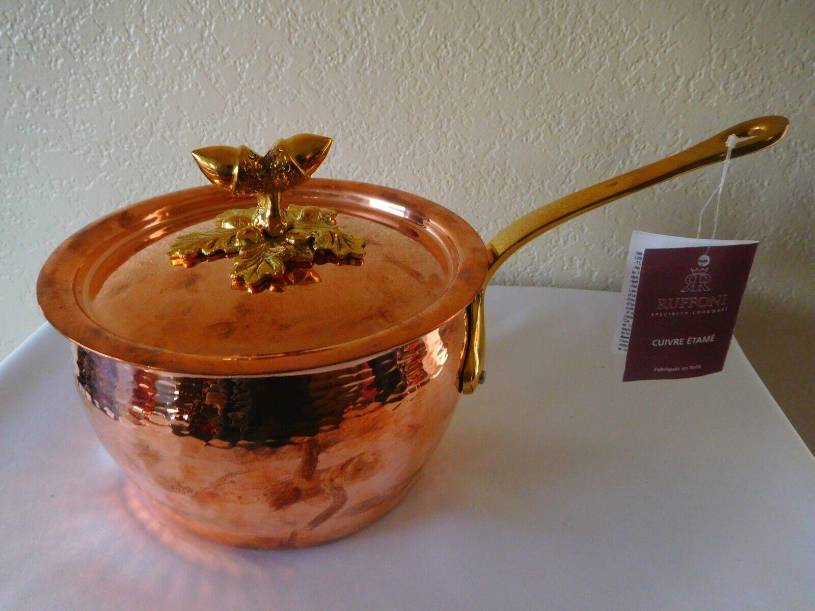 Nouveau Ruffoni Specialty DECOR Cookware Tin doublés de cuivre solides couvert Sauce Pot