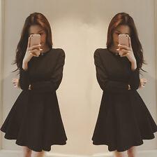 Hot Sale! 2015 Korean Women Princess Dress Expansion Skirt Waist Bottoming Dress