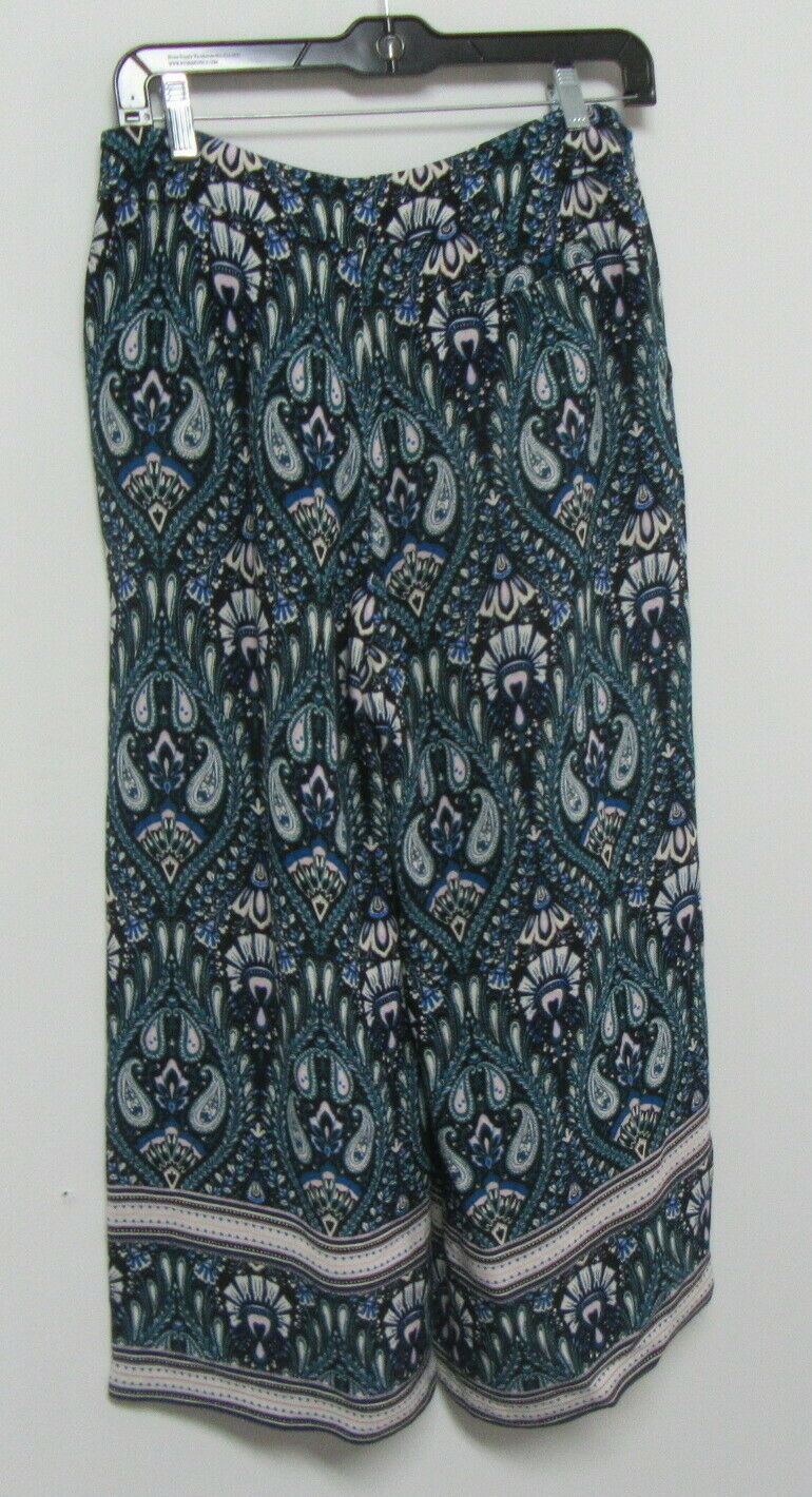 ELLA MOSS Turquoise Printed Gaucho Pants Size Sma… - image 3