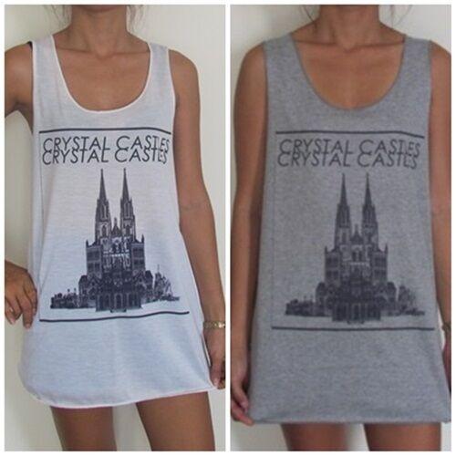 ** Unisex Crystal Castles Chaleco ** Top Sin Mangas Camiseta Camiseta Vestido Tallas S M L Xl-ver Altamente Pulido