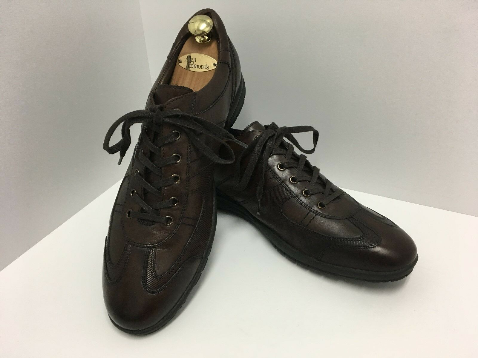 Kenneth Cole New York Mens Brown Leather Lace Up Casual shoes Sneaker Size 11.5M