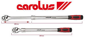 Carolus-1-3cm-SQ-DR-60cm-Extensible-demontage-rapide-prise-Cle-a-cliquet