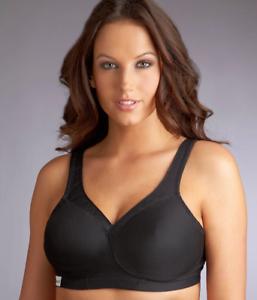 Glamorise-Woman-039-s-Black-Medium-Impact-Wire-Free-Sports-Bra-Size-36DD-NWOT