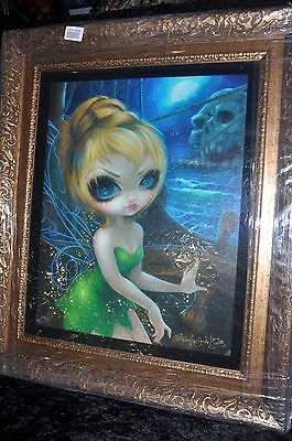 "Disne 24"" x 28""-  Authentic-Disney Jasmine Becket-Griffith Tinker Bell -Giclee"