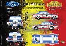 [FFSMC Productions] Decals 1/18 Ford Escort MK1 1600TC Rallye d'Ypres 1970