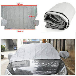 Magnetic-Car-Windshield-Cover-Sun-Snow-Frost-Ice-Cotton-Window-Mirror-Protector