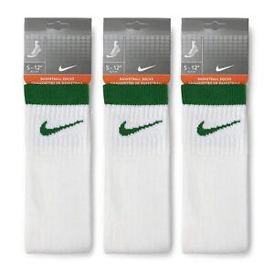 3 PACK NIKE Logo Sports Ankle Socks, Small UK3-6.5 LARGE UK7- 11