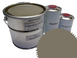 1,5 Liter Set 2K Floor Color Floor Ral 7002 Vinyl-Epoxid-Lack Lackpoint Shine