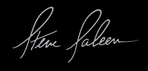 "Steve Saleen Signature Vinyl Decal Sticker 4 x 4/"" Wide"