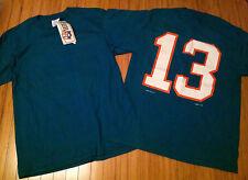 Vtg Miami Dolphins Dan Marino LOGO 7 T shirt size Large nwot NFL #13 deadstock