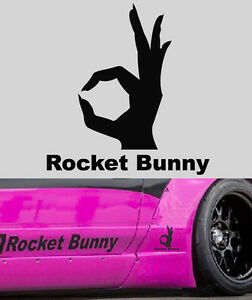 Brz Rocket Bunny For Sale >> A OK SIGN SYMBOL ROCKET BUNNY Decal FOR FT86 FRS BRZ 240SX GTR 350Z S14 S13 RX7 | eBay