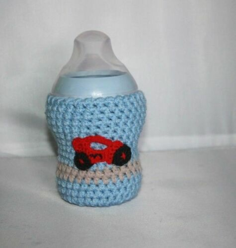 PERSONALIZED Handmade crochet baby bottle COVER