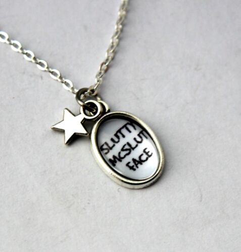 Sweary Pendants NOT for the easily offended SLUTTY MCSLUTFACE Pendant Necklace