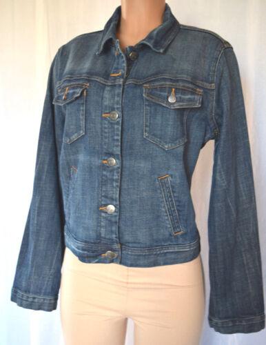 pakker jacket X ærmer jeans Large J lange bomuld Størrelse front denim Crew qwvYUI