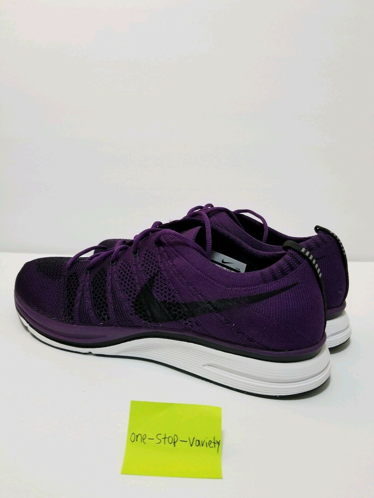NIKE FLYKNIT TRAINER TRAINER TRAINER Night Purple Men's Shoes Size 9 BLACK WHITE AH8396-500 2a44f6