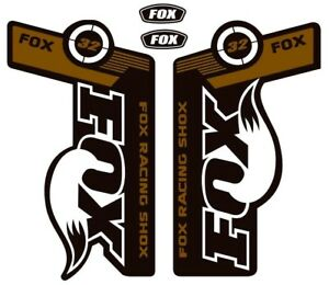 FOX 32 Forks / Suspension Factory Style Decal Kit Sticker Adhesive Set Gold