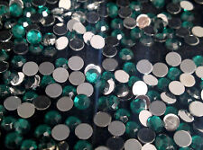 300 x 4mm  Emerald Green RHINESTONES Flat Back ROUND Crystals Stick On with Glue