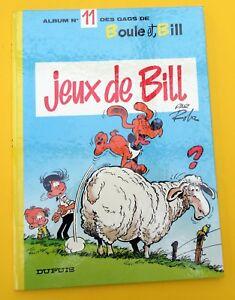 BOULE-ET-BILL-NO-11-ROBA-JEUX-DE-BILL-EO-1975-TBE