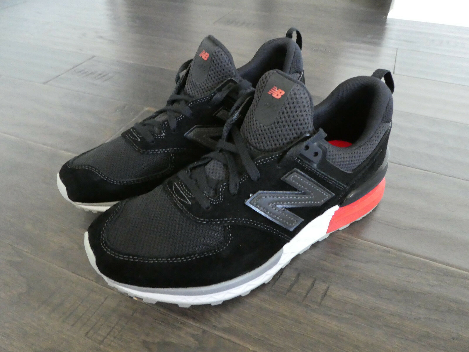 New Balance Men's shoes MS574AB Sneakers Size 8 black red 574