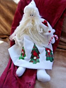 image is loading primitive country cloth hand made santa claus doll - Primitive Country Christmas Decorations