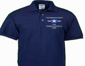 NIGERIEN AIR BASE 101 NIGER USAF EMBROIDERED POLO SHIRT/SWEAT/JACKET.