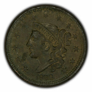 1838 1c Coronet Head Large Cent - High-Grade XF/AU Coin - SKU-Y2630