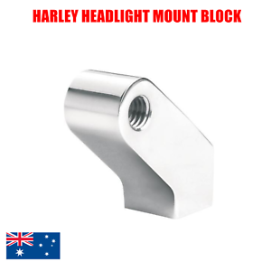 Chrome-Black-CNC-headlight-mount-bracket-Harley-softail-dyna-breakout-wide-glide
