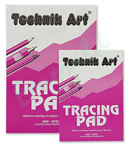 Technik Art Tracing Pad 63gsm 40 Sheets A4 - Same Day Dispatch