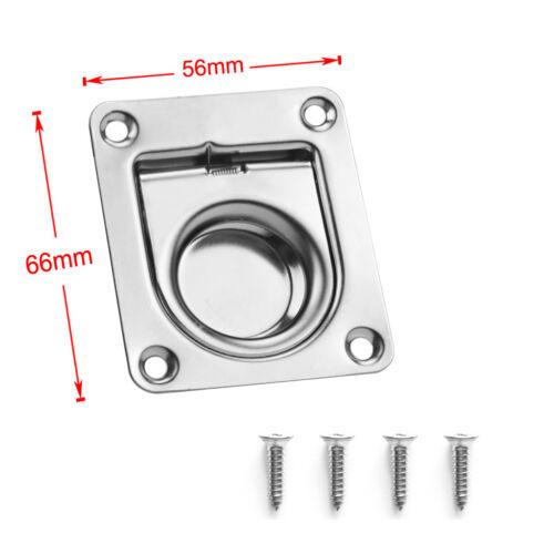 BRAND NEW Edelstahl Boot Luke Locker Flush Lift Pull Ring Griff 56 x 66mm