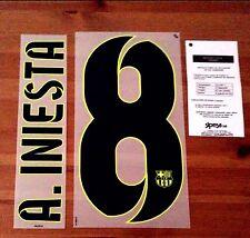 2014-15 A. Iniesta #8 la Liga lejos Camiseta Oficial Sipesa Fútbol Nombre Número Set