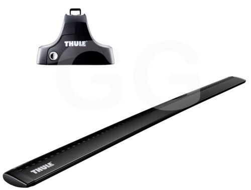 Thule BLACK WingBars Locking Roof Rack Bars Audi A3 4dr Saloon 2013- onwards