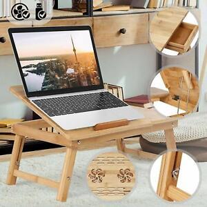 Tavolino Pieghevole Pc.Dettagli Su Tavolino Pieghevole Portatile Per Pc Notebook In Legno Di Bambu Vari Modelli