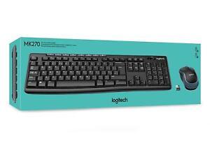 4e4cd5fcaf8 New Logitech MK120 USB Wired Desktop Keyboard and Mouse Laser Black ...